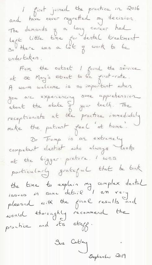 Susan Catley testimonial